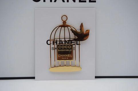 Chanel Birdcage Metal Magnet Pin
