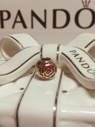 🚚 現貨在台 正品潘朵拉 pandora 迪士尼系列 美女與野獸 玫瑰花 串飾