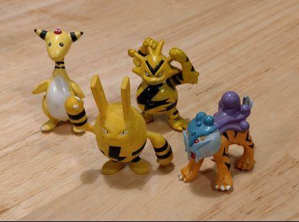 電系寵物小精靈扭蛋公仔 Electric type Pokemon Gacha toy figurines