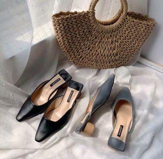 Slip on midi heels