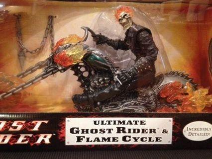 Marvel Ultimate Ghost Rider & Flame Cycle 12 inch MISB