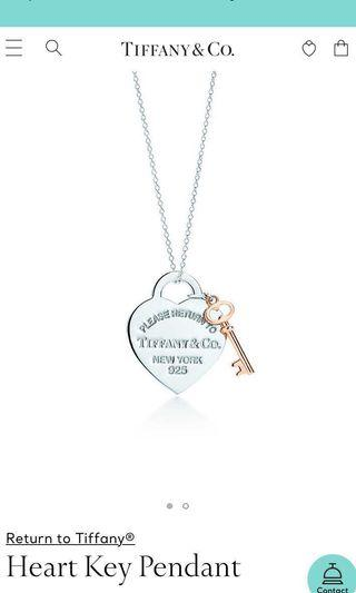 🚚 Tiffany & Co Necklace ( Heart Key Pendant )