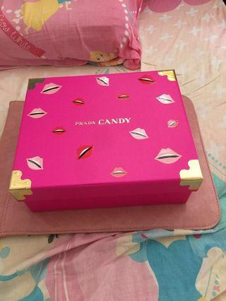 Prada candy body lotion75ml連化妝鏡連盒