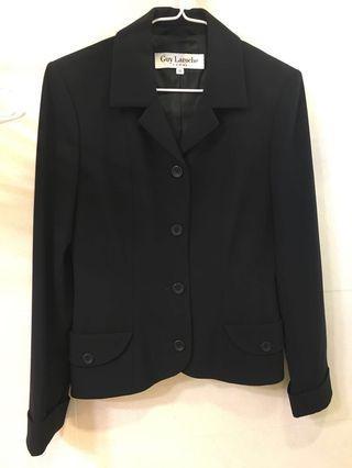 Guy Laroche 名牌黑色返工套裝裙