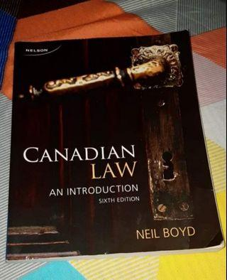 CANADIAN LAW AN INTRODUCTION ($40 OFF)