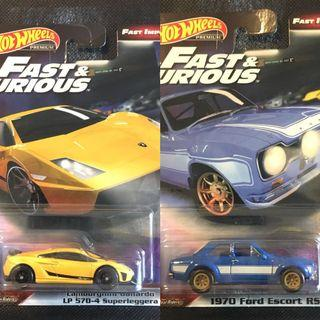 🚚 Hotwheels Premium Fast & Furious set of 2