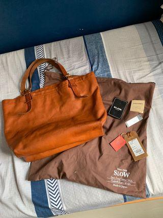 Slow 皮tote bag (take5 Lvc buzz rickson sugar cane rrl real McCoy)