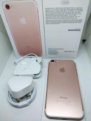 Apple iPhone 7 128Gb Rose Gold Fullset Surabaya
