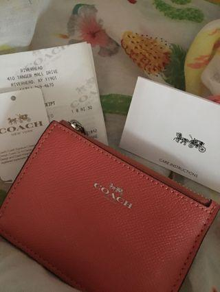 Brand new Authentic Coach Coin Purse F12186