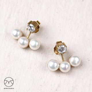 🚚 Momo's march珍珠彎彎耳環