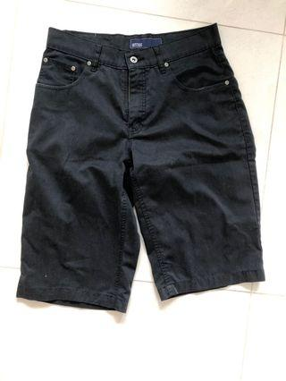 Black Denim Berms- men