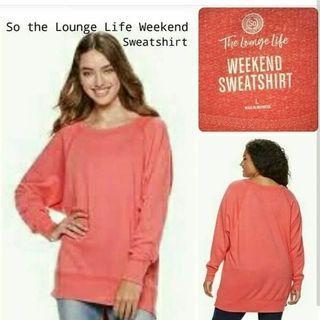 Sweater dusty pink + hijau army bahan good quality