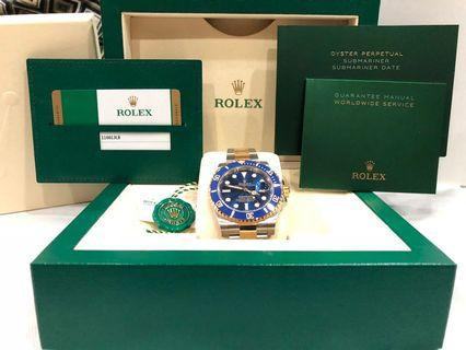 🚚 Rolex Submariner TT Sunburst Blue dial (Ref: 116613LB)