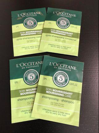 (包郵)L'occitane shampoo & conditioner set 洗護髮旅行裝