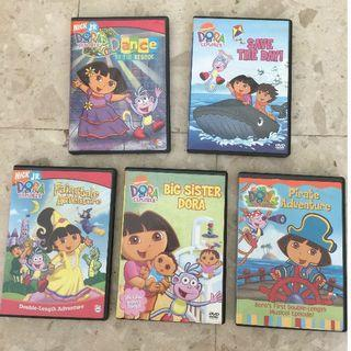 5-Dora The Explorer DVDs for $3