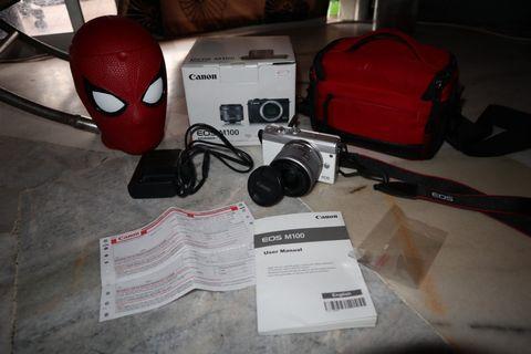 Canon EOS M100 White Fullset! ( With Warranty )