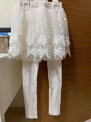 Beautiful White Leggings 7y