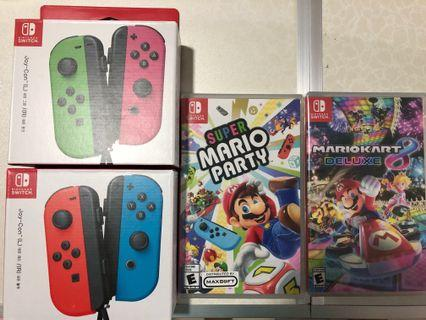 🚚 Super Mario Party and Kart Bundles with Nintendo Switch Joy Cons!