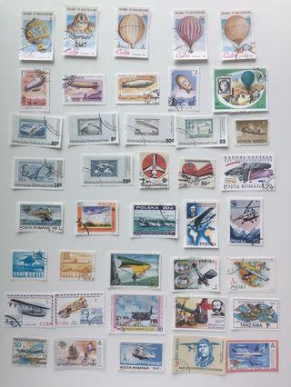 外國郵票—專題1–航空交通工具27