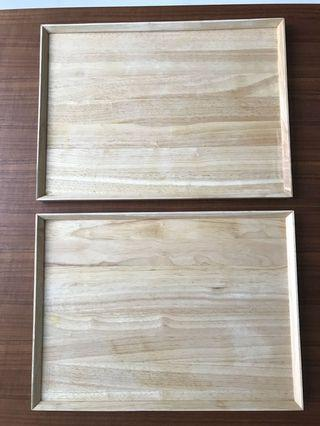 Price for Both! Wood Tray L size
