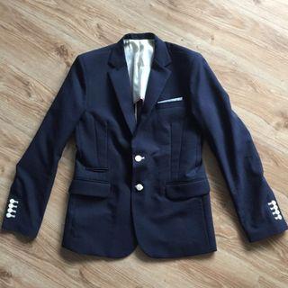 韓版Boss Club修身深藍色西裝外套Polo Ralph Lauren Beams United Arrows