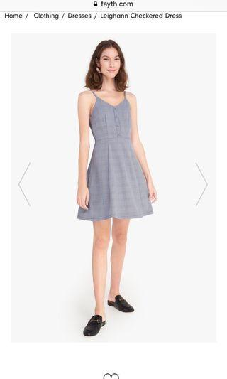 🚚 FAYTH leighann checkered dress in blue