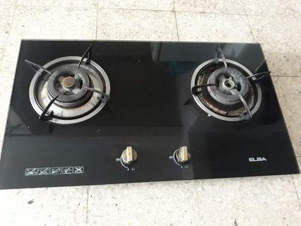 Glass stove brand elba