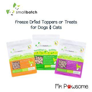 Smalll Batch Freeze Dried Smallbites Toppers/Treats for Dogs & Cats 7oz