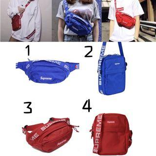 ⚡️INSTOCK FAST DELIVERY⚡️ Supreme 18SS 19SS Waist Pouch / Crossbody Bag / Sling Bag / HIGH QUALITY‼️
