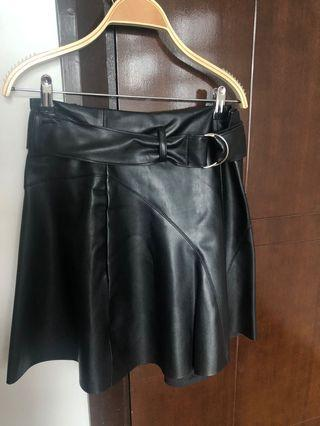 Leather skirt / rok kulit ZARA