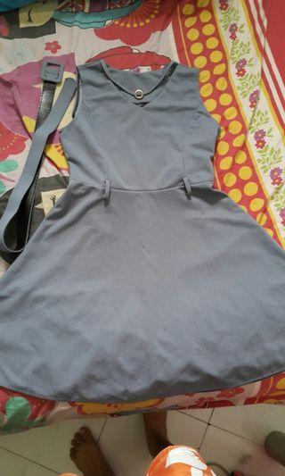 Dress import uk m,L free belt baju baru