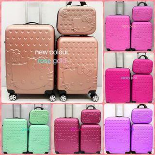 """Hello Kitty Luggage Set Travel ABS Suitcase 3in1 (12''+20"""" + 24"""")"""