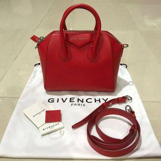 🚚 Givenchy mini antigona (red)
