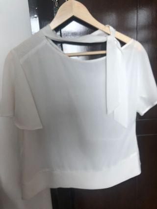 White blouse ZARA size M