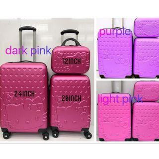 """Hello Kitty Luggage Set Travel ABS Suitcase 2in1 (12""""+ 20"""")"""