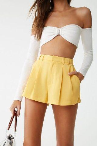 Yellow shorts Forever 21