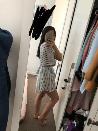 WHOIAM Stripey Playsuit