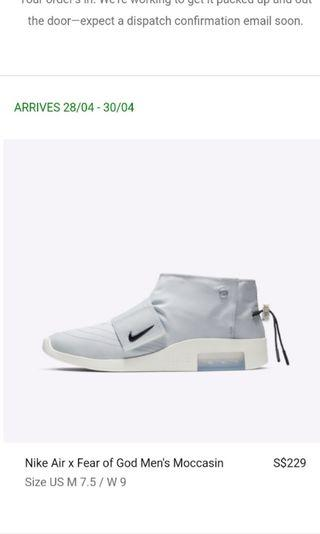 🚚 Nike Fear of God Moccasin
