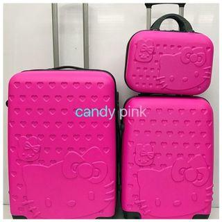 """Hello Kitty Luggage Set Travel ABS Suitcase 2in1 (12"""" + 24"""")"""