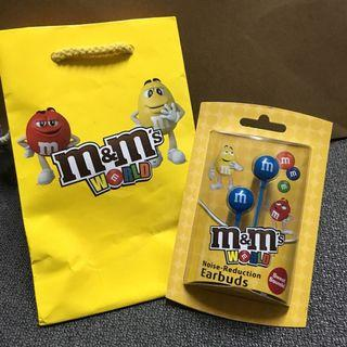 m&m's World 耳機 Noise-Reduction Earbuds (Blue)