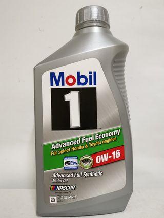 Mobil 1 0w16 Advance Fuel Economy
