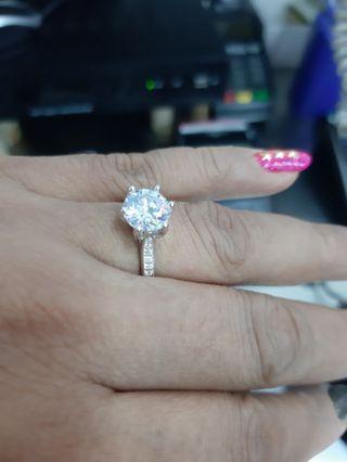Diamond Ring original silver 925
