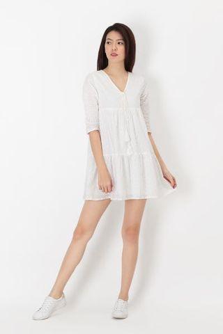 AForArcade Calista Eyelet Dress - White