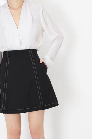 🚚 BNWT AForArcade Peyton A-Line Stitch Skirt - Black