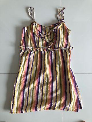 Pretty casual beach dress with colourful stripes
