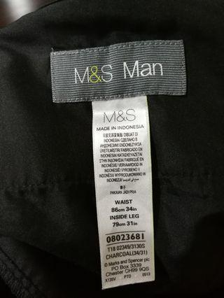 M&S Man Working pants trousers charcoal