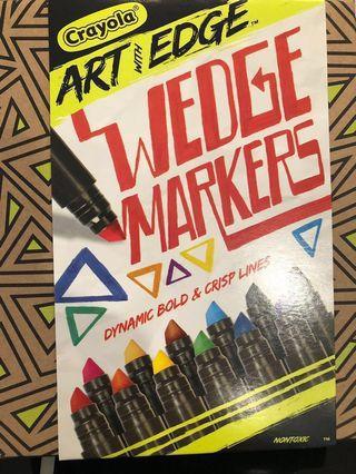 Crayola 12pcs Wedge Markers