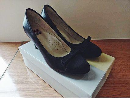 黑色尖頭真皮高跟鞋|A.so 阿瘦皮鞋