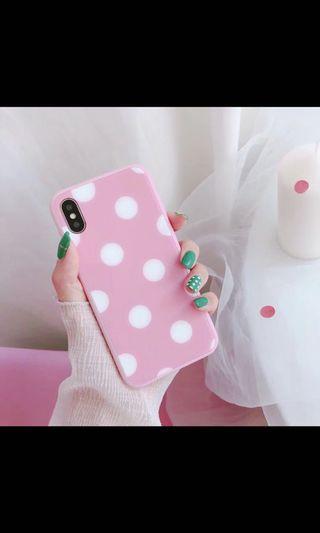 ix粉紅點點手機殼~