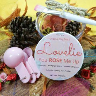 You ROSE Me Up Lovelie Natural Clay Mask - Masker Wajah Lovelie Rose
